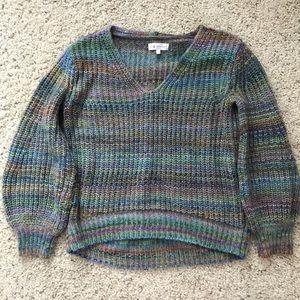 Lou & Grey for Loft Multicolor Chunky Sweater